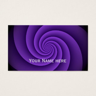 Power Spirals Fractal Pattern - violet Business Card