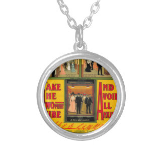 Power station London (I had) Railway, by unknown Silver Plated Necklace