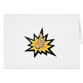 power thumbs up card
