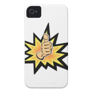 power thumbs up iPhone 4 cases