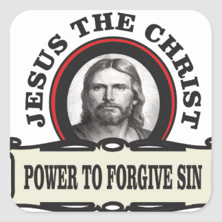 power to forgive sin jc square sticker