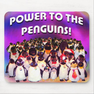 """Power to the Penguins"" Mouse Pad"