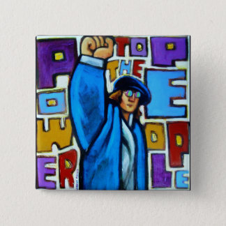 Power to the People 2 Inch Square Button