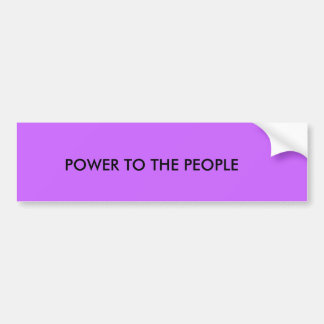 POWER TO THE PEOPLE BUMPER STICKER