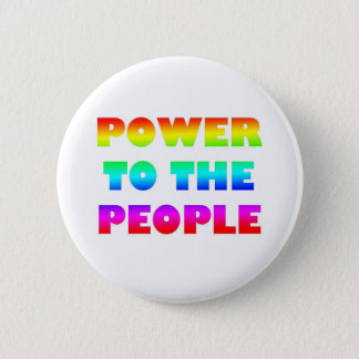 Power to the People Retro Style Protest Occupy 2 Inch Round Button