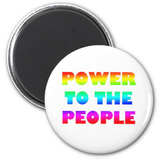 Power to the People Retro Style Protest Occupy 2 Inch Round Magnet