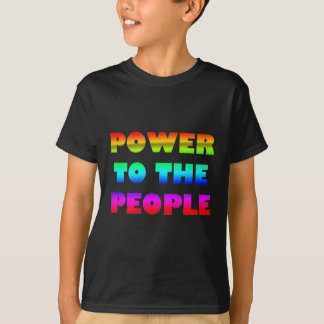 Power to the People Retro Style Protest Occupy T-Shirt