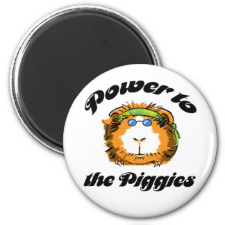 Power to the Piggies 2 Inch Round Magnet