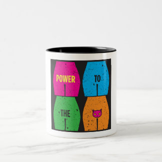 POWER TO THE PUSSY Two-Tone Mug