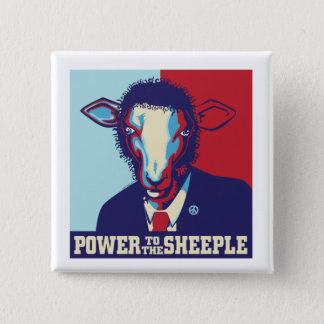 Power to the Sheeple 2 Inch Square Button