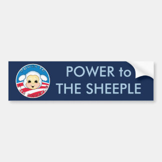 Power to The Sheeple (Obama) Bumper Sticker