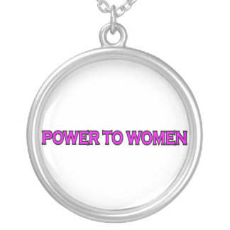 POWER TO WOMEN SILVER PLATED NECKLACE