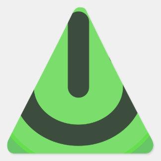 Power Toggle Button Triangle Sticker