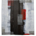 'Power Trip' Grey and Red Abstract Art