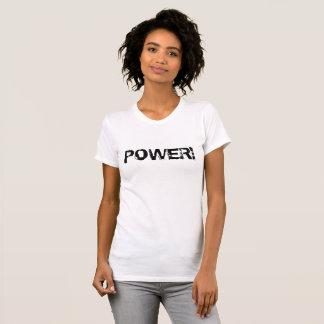 POWER! Womens T Shirt Black on White