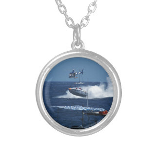 Powerboat and a helicopter custom jewelry