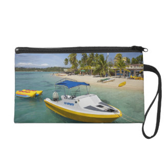 Powerboat and banana boat wristlet clutches