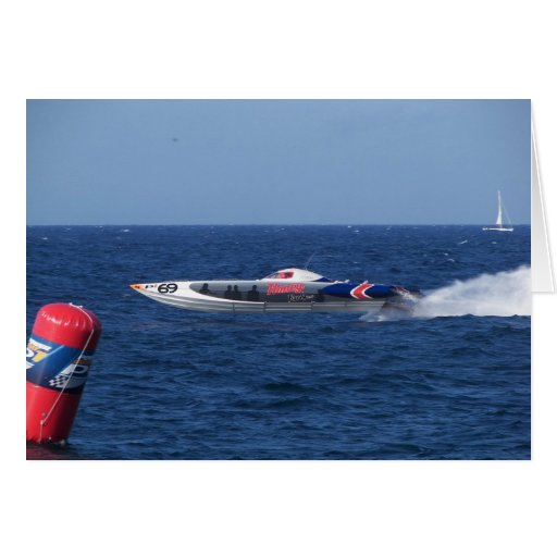 Powerboat Greeting Cards