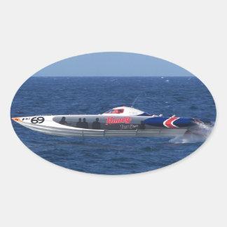 Powerboat Oval Sticker