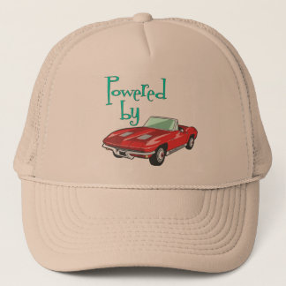 Powered By A Red Convertible Trucker Hat