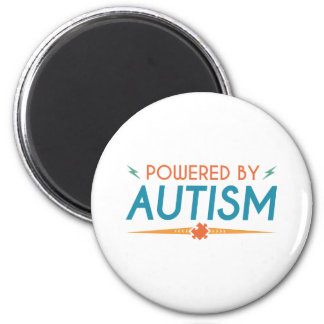 Powered By Autism 2 Inch Round Magnet