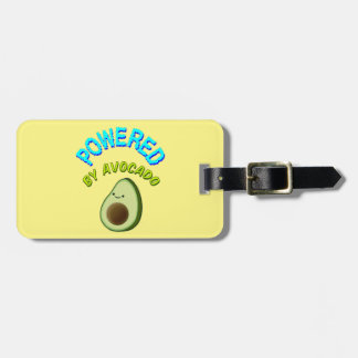 Powered By Avocado Luggage Tag
