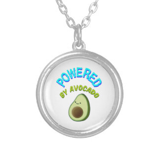 Powered By Avocado Silver Plated Necklace