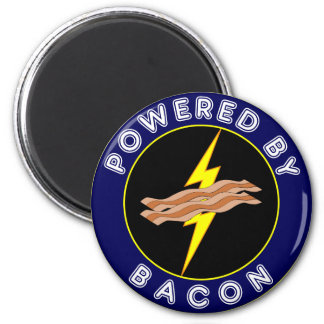Powered By Bacon 2 Inch Round Magnet
