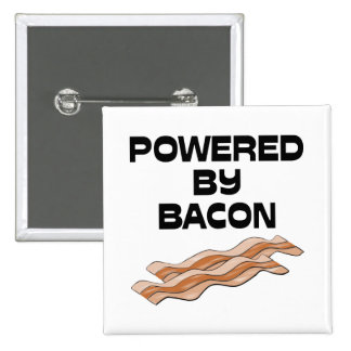 Powered By Bacon 2 Inch Square Button