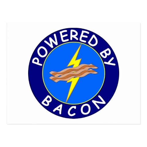 Powered By Bacon 2 Postcard