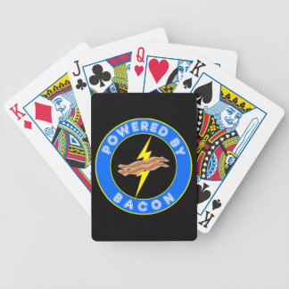 Powered By Bacon Comic Style Bicycle Card Deck