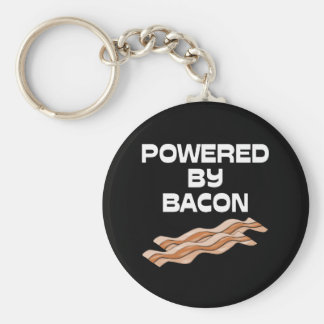 Powered By Bacon Key Chain