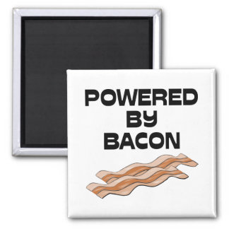 Powered By Bacon Refrigerator Magnet