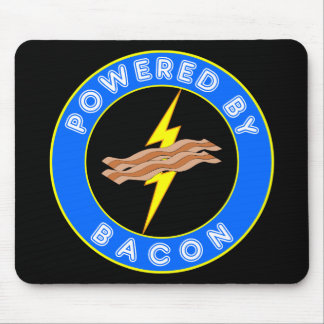 Powered By Bacon Mouse Pad