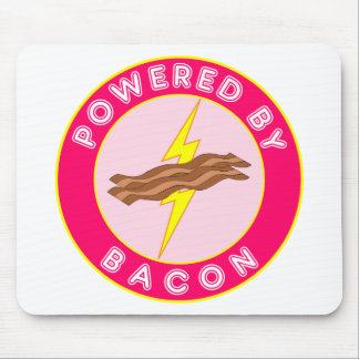 Powered By Bacon (Pink) Mouse Pad