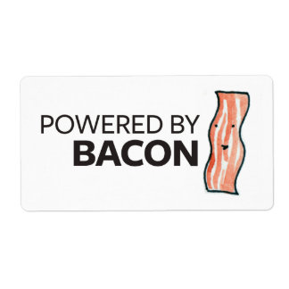 Powered by Bacon Shipping Label