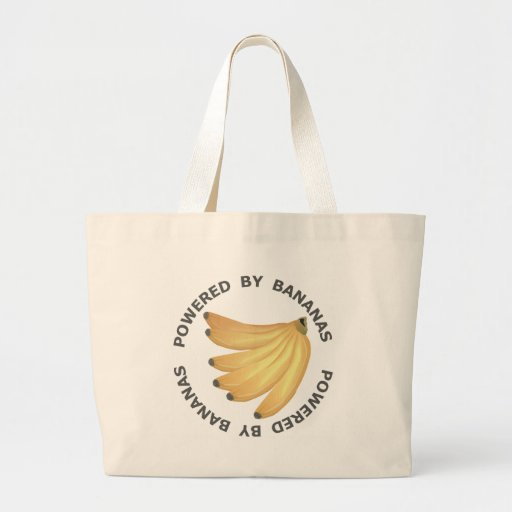 Powered By Bananas Tote Bags