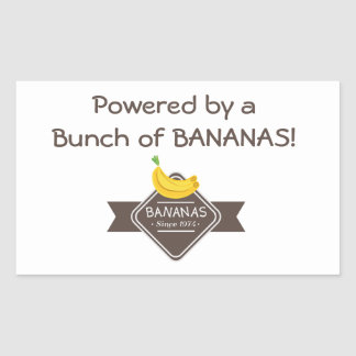 Powered By BANANAS Sticker