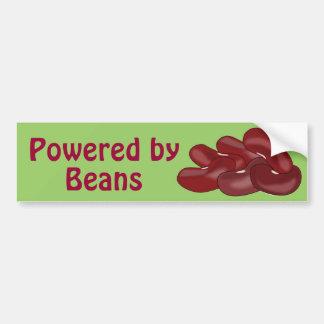 Powered by Beans Kidney Bean Veggie Vegan Meatless Bumper Sticker