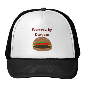 """Powered by Burgers""--funny Hamburger Lover Gifts Hat"