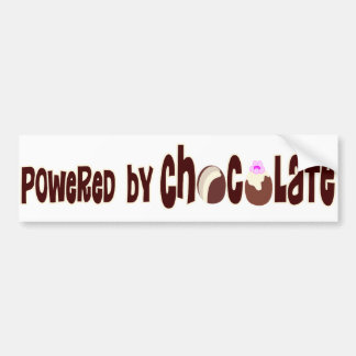 Powered by chocolate bumper sticker