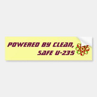 Powered by Clean, Safe U-235 Bumper Sticker