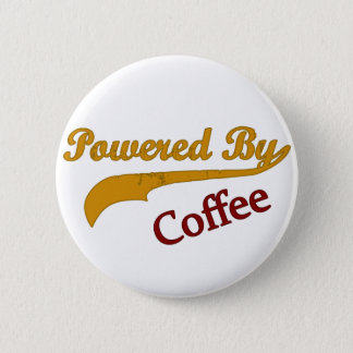 Powered By Coffee 2 Inch Round Button