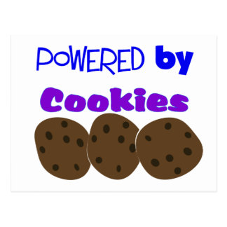 """""""Powered by Cookies""""---funny T-shirt Postcard"""