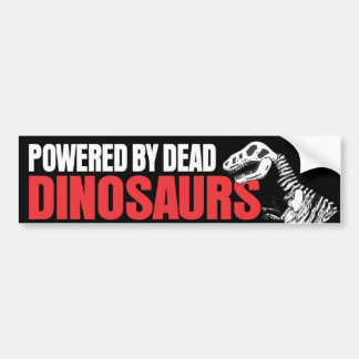 Powered by Dead Dinosaurs Bumper Sticker