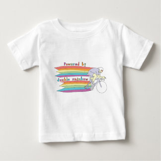 Powered By Double Rainbow Baby T-Shirt