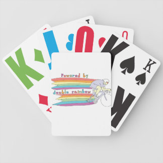 Powered By Double Rainbow Bicycle Playing Cards