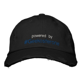 powered by #Geekosterone hat Embroidered Hats