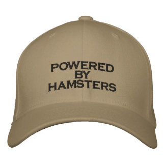 POWERED BY HAMSTERS - hat