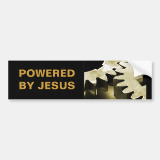 Powered By Jesus Bumper Sticker